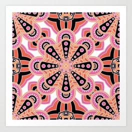 Autumn Spice Mandala- Boho Flower Bust Art Print