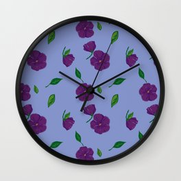 Vintage Violets Litte Wall Clock