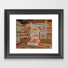 The Old Corner Shop. Framed Art Print