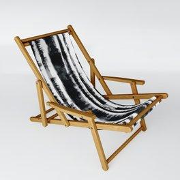 Tie-Dye Shibori Stripe BW Sling Chair