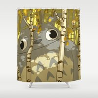 hyrule Shower Curtains featuring my neighbour in Hyrule by Andre!