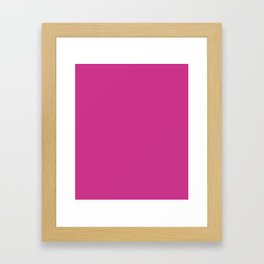 Magenta-Pink - solid color Framed Art Print