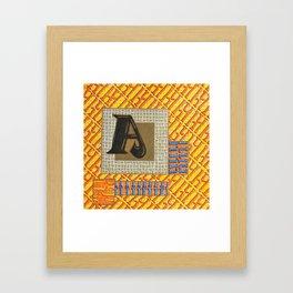 Alpha-Numero: A Framed Art Print