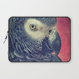 Gray Parrot Laptop Sleeve