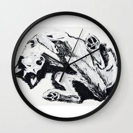 Husky Side UP Wall Clock