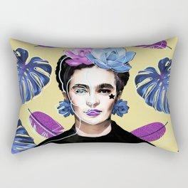 Donde no puedas amar, no te demores - Frida Khalo Rectangular Pillow