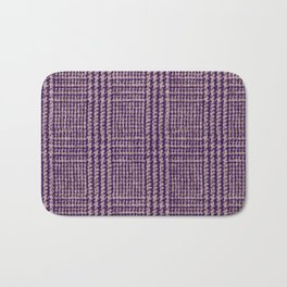 Purple plaid pattern Bath Mat
