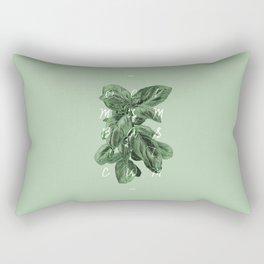 Ocimum Basilicum Rectangular Pillow