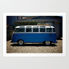 VW Vanagon Art Print