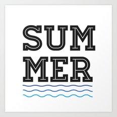 Summer//Waves Art Print