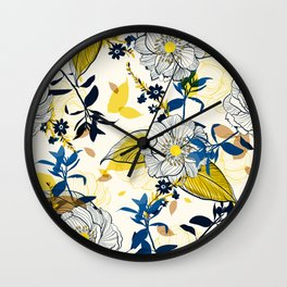 Flowers patten1 Wall Clock