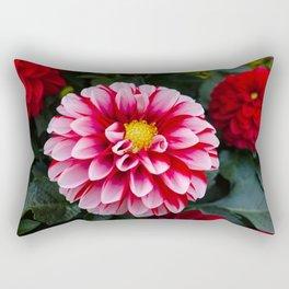 Pink Dahlia Flower Rectangular Pillow