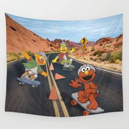 Sesame Skate Wall Tapestry
