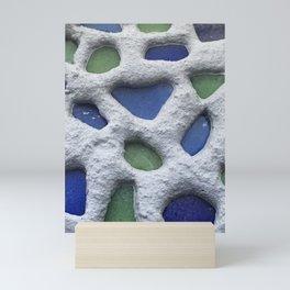 Sea Glass Mosaic Detail Mini Art Print