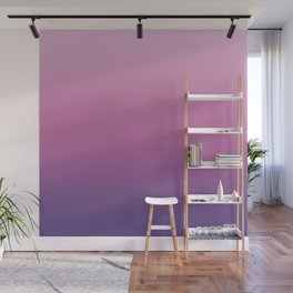 Pink Ultra Violet Ombre Gradient Pattern Wall Mural