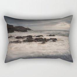 Sea foam on Bracelet Bay Rectangular Pillow