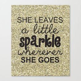 She Sparkles Canvas Print