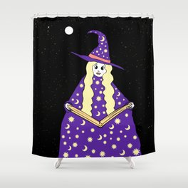 Halloween Witch Shower Curtain