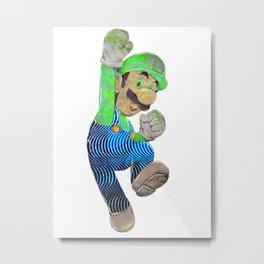 Pop Art Luigi Metal Print