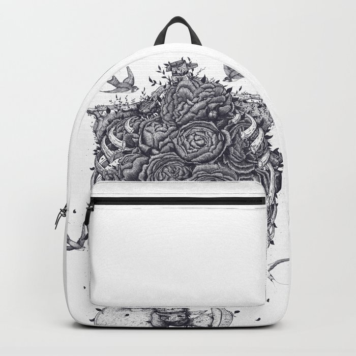 Ribs with peonies Backpack