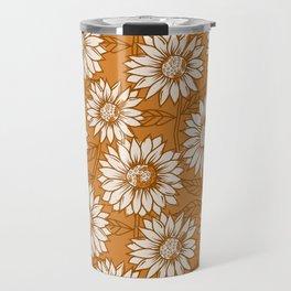 Copper Sunflowers Travel Mug