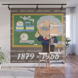 Albert Einstein Wall Mural