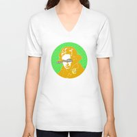 beethoven V-neck T-shirts featuring Ludwig van Beethoven 16 by Marko Köppe