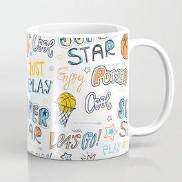 Pattern for basketball. Super star. Coffee Mug