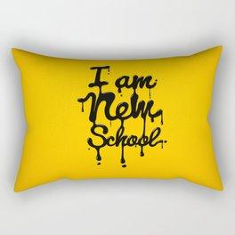 I am new school! Rectangular Pillow