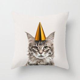 Party Cat Throw Pillow