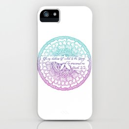 Equanimity / Jonah 2:2 / Pink Blue iPhone Case