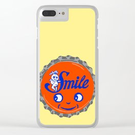 Smile bottle cap lefty Clear iPhone Case