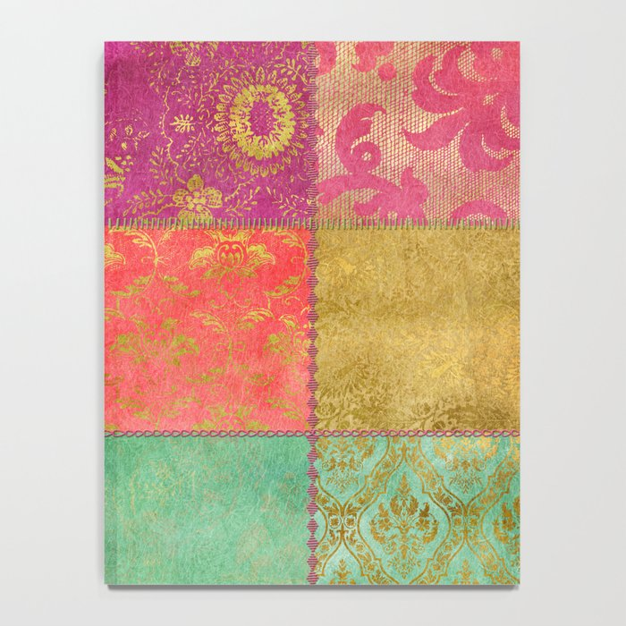 Royal Patchwork Notebook