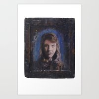 sylvia plath Art Prints featuring Sylvia Plath by robertpriseman
