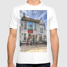 The Bull Pub Theydon Bois White MEDIUM Mens Fitted Tee