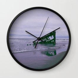 Shipwreck at Fort Stevens state park Oregon Wall Clock