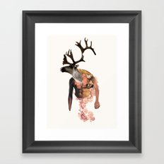 Tough Moose Framed Art Print