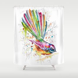Sketchy Fantail Shower Curtain
