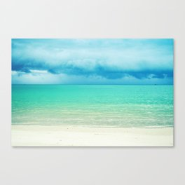 Blue Turquoise Tropical Sandy Beach Canvas Print