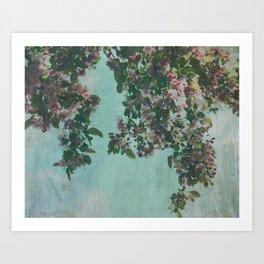 Sweet Crabapple Blossom Overhang Art Print