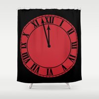 clock Shower Curtains featuring Clock by I Love Decor
