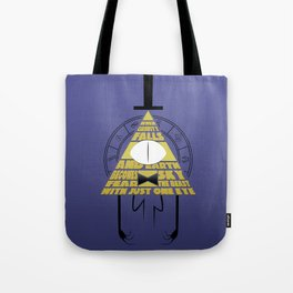 The beast with just one eye Tote Bag