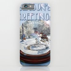 Blue Christmas Greeting Card iPhone 6s Slim Case