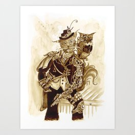 Sir Whiskerfur and Lieutenant Colonel Beaker Art Print