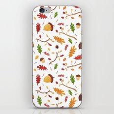 Autumn leaf pattern iPhone & iPod Skin