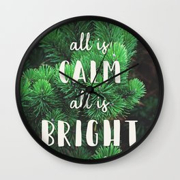 All Is Calm Wall Clock