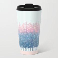 pink and blue trees Travel Mug