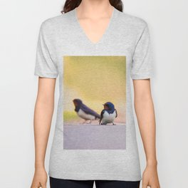 #Barn #swallows are the #lucky #charms of #nature Unisex V-Neck