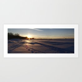 Two-thousand ten Snowfall. Art Print