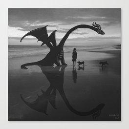 Dragon Beach Canvas Print
